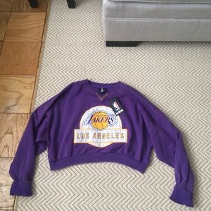 Lakers Patch Cropped Sweatshirt by UNK x | Products in 2019